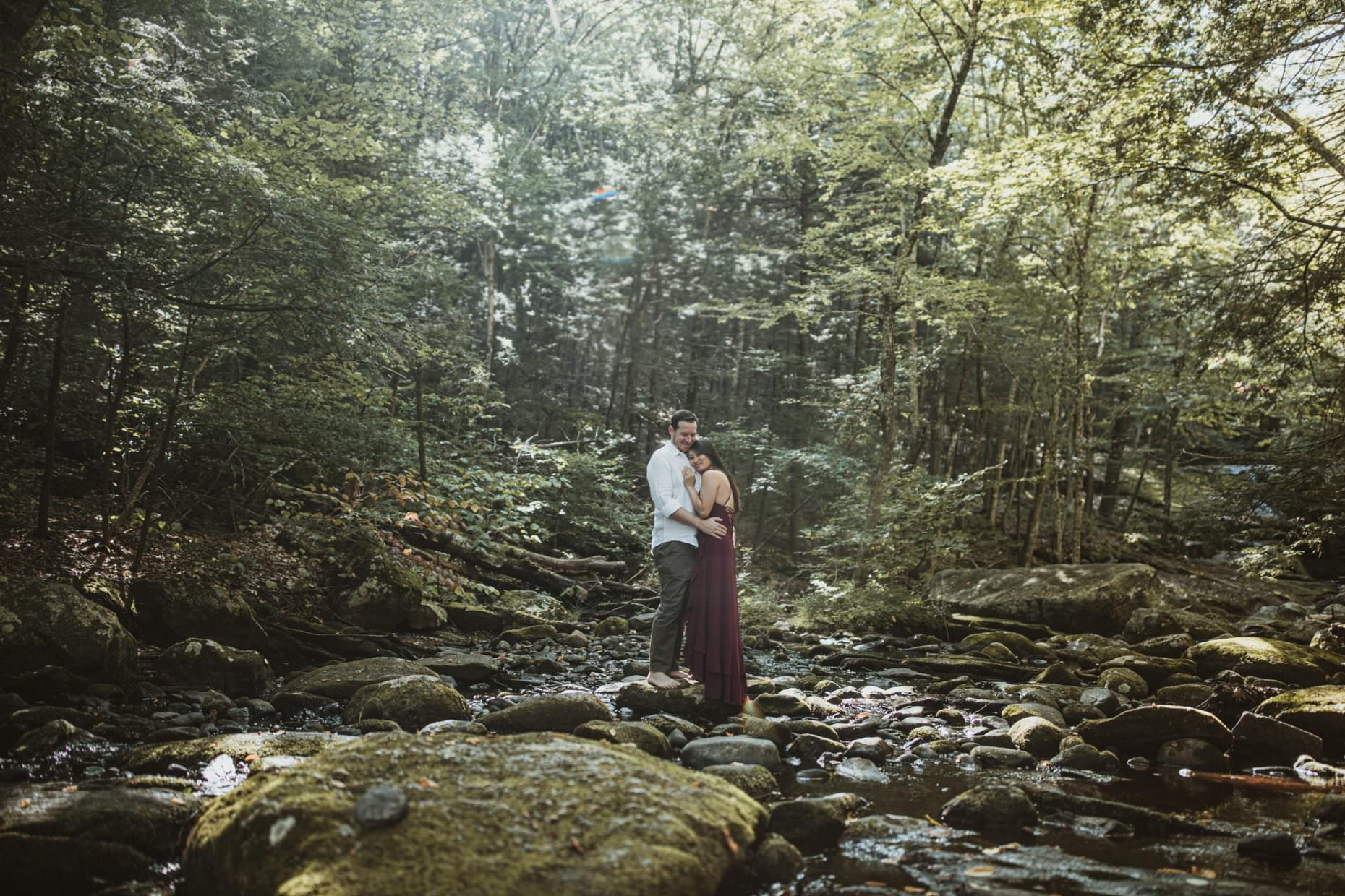 waterfall-engagement-adventure-couple