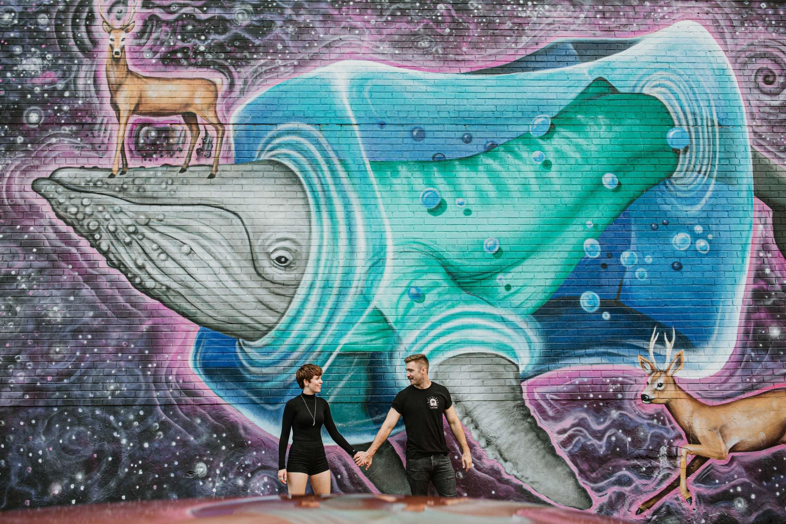 Street-Art-brooklyn-couple-session