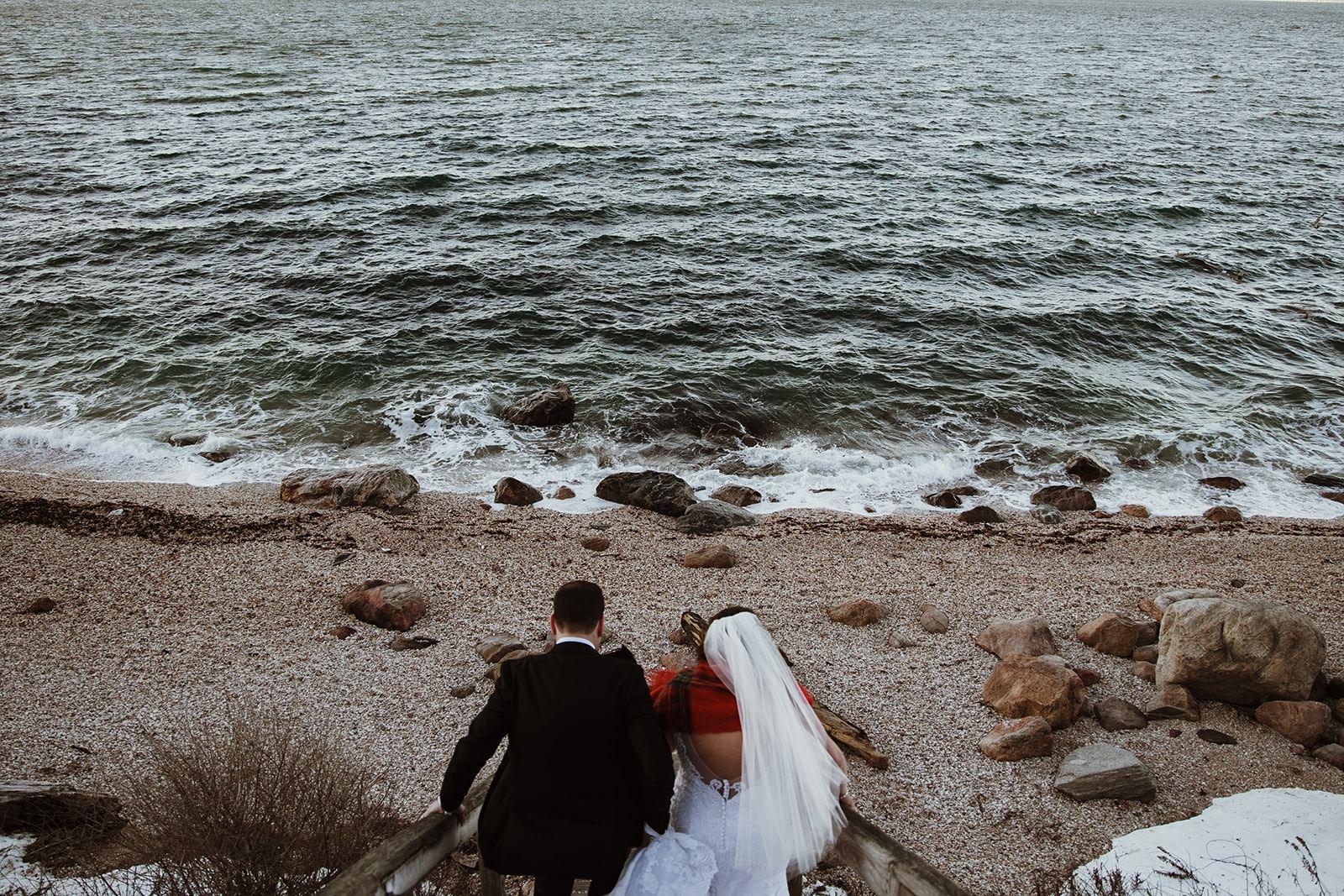 stunning winter elopement